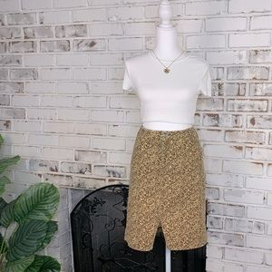 Ralph Lauren Corduroy Floral Skirt